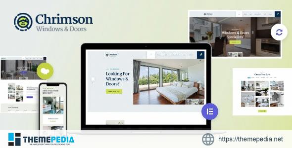 Chrimson – Windows & Doors Services Store WordPress Theme + Elementor [Free download]
