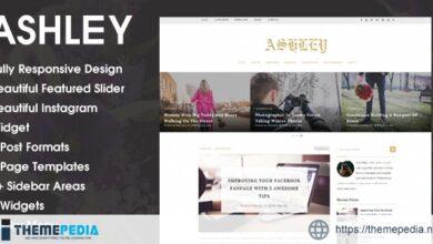 Ashley – A WordPress Blog Theme [Free download]