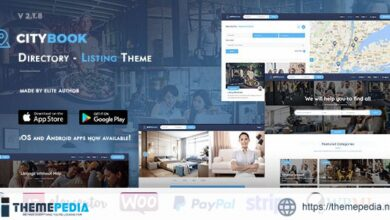 CityBook – Directory & Listing WordPress Theme [Free download]