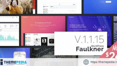 Faulkner – Responsive Multiuse WordPress Theme for Companies and Freelancers [Free download]