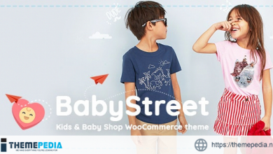 BabyStreet – WooCommerce Theme for Kids Toys and Clothes Shops [Latest Version]