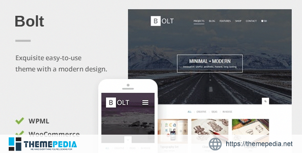 Bolt – A Delightful Responsive WordPress Theme [nulled]