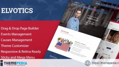 Elvotics – Political WordPress Theme [Free download]