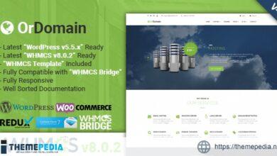 OrDomain – Responsive WHMCS Hosting WordPress Theme [Free download]