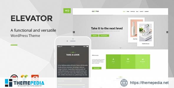 Elevator – Modern Business WordPress Theme [Free download]