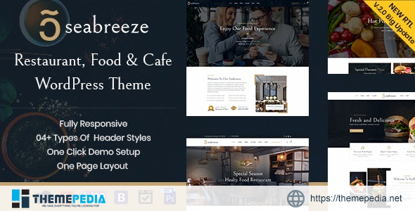 Seabreeze – Restaurant and Cafe WordPress Theme [Free download]