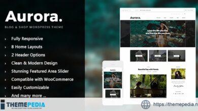 Aurora – Lifestyle Blog and Shop WordPress Theme [Updated Version]