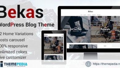 Bekas – Responsive WordPress Blog Theme [Free download]