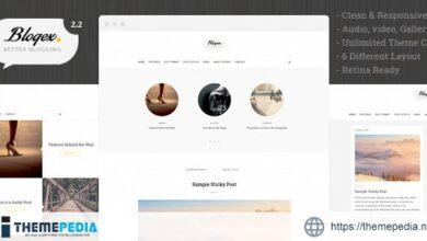 Blogex – Minimal Responsive Wordpress Blog Theme [Updated Version]