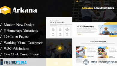 Arkana – One Page Construction WordPress Theme [Free download]