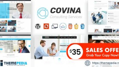 Covina – Business Consulting and Professional Services WordPress Theme [Free download]