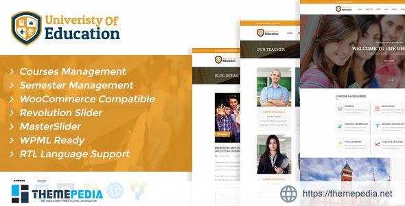 University of Education WordPress Theme – Courses Management WP [Free download]