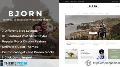 Bjorn – Responsive WordPress Personal Blog Theme [Free download]