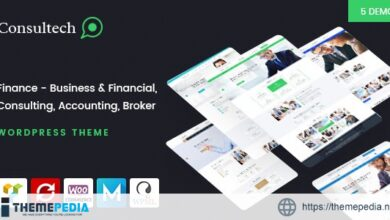 Consultech – Finance & Consulting Business WordPress Theme [Free download]