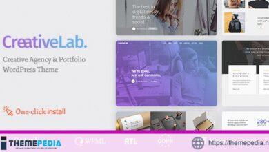 Creative Lab – Studio Portfolio & Design Agency WordPress Theme [Free download]