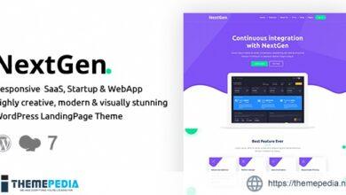 NextGen – Startup & WebApp WordPress Theme [Free download]