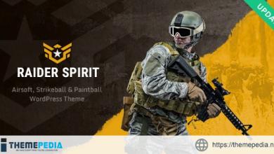 Raider Spirit – Airsoft Club & Paintball WordPress Theme [Free download]
