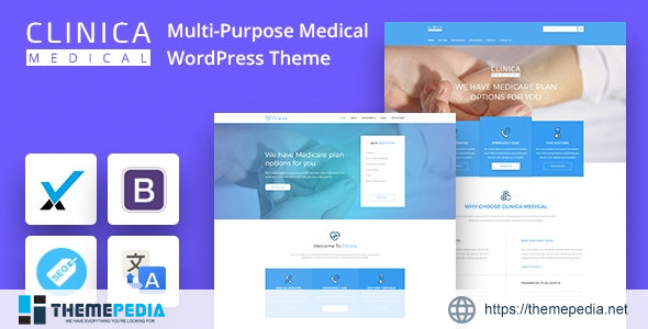 CLINICAWP – Medical WordPress Theme [Free download]
