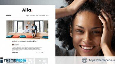 Alia – Minimal Personal Blog [Free download]