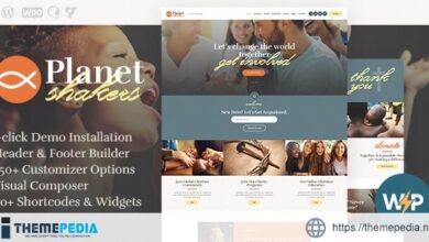 Planet Shakers – Church & Religion WordPress Theme [Free download]