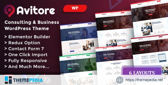 Avitore – Consulting Business WordPress [Free download]