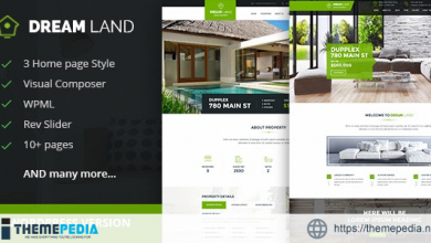 DREAM LAND- Single Property Real Estate WordPress Theme [Free download]