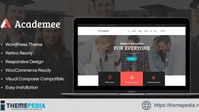 Academee – Education Center & Training Courses WordPress Theme [Free download]