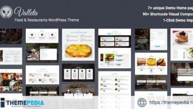 Valleta – Food & Restaurants WordPress Theme [Free download]