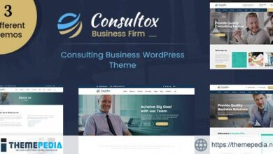 Consultox – Consulting Business WordPress Theme [Free download]