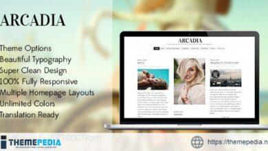 Arcadia – Responsive WordPress Blog Theme [Free download]