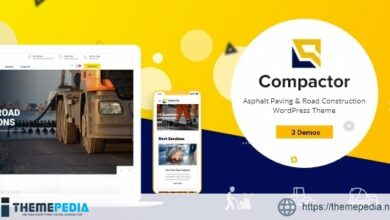 Compactor – Road Construction WordPress Theme [Free download]