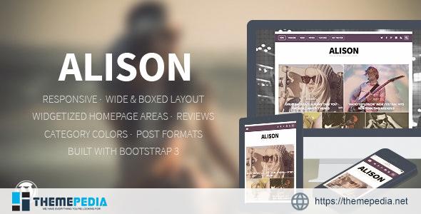Alison – Responsive WordPress News Theme [Free download]