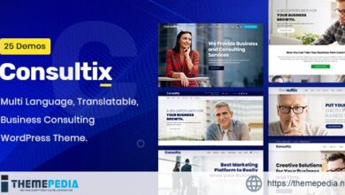 Consultix – Business Consulting WordPress Theme [Free download]