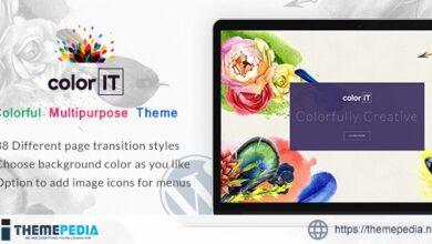 ColorFolio – Freelance Designer WordPress Theme [Free download]