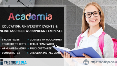 Academia – Education Center WordPress Theme [Updated Version]