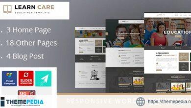 LearnCare Educational WordPress Theme [Free download]