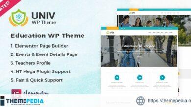 Univ – Education WordPress Theme [Free download]