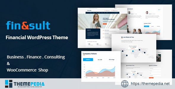 FinSult – A Business Consulting and Finance WordPress Theme [Free download]