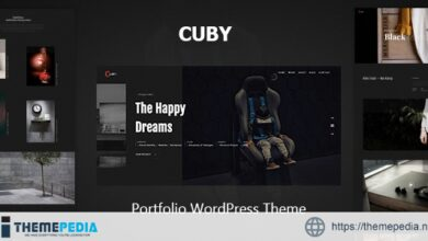 Cuby – Portfolio WordPress Theme [Free download]