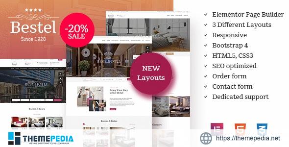 Bestel Hotel WordPress Theme [Free download]