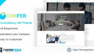 Confer – Consultancy, Finance & Business WordPress theme [Free download]