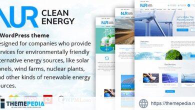 Nur – Alternative & Renewable Energy WordPress Theme [Free download]