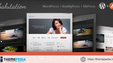 Salutation Responsive WordPress + BuddyPress Theme [Free download]