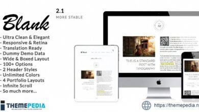 Blank – Elegant Minimalist Blog WordPress Theme [Free download]
