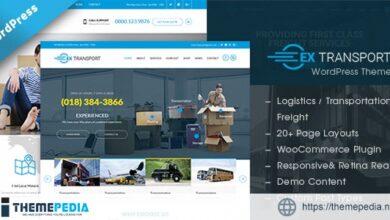 Extransport – Freight, Logistics WordPress theme [Free download]