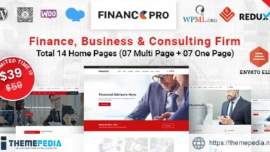 Finance Pro – Business & Consulting WordPress Theme [Free download]