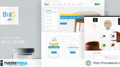 Big Shop – Furniture RTL Responsive WooCommerce WordPress Theme [Free download]