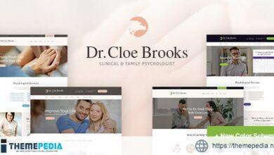 Cloe Brooks – Psychology, Counseling & Medical WordPress Theme + RTL [Free download]