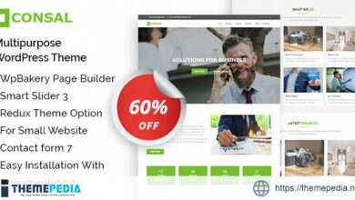 Consal – Corporate Business Agency WordPress Theme [Free download]