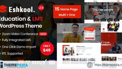 Eshkool – Education WordPress Theme [Updated Version]